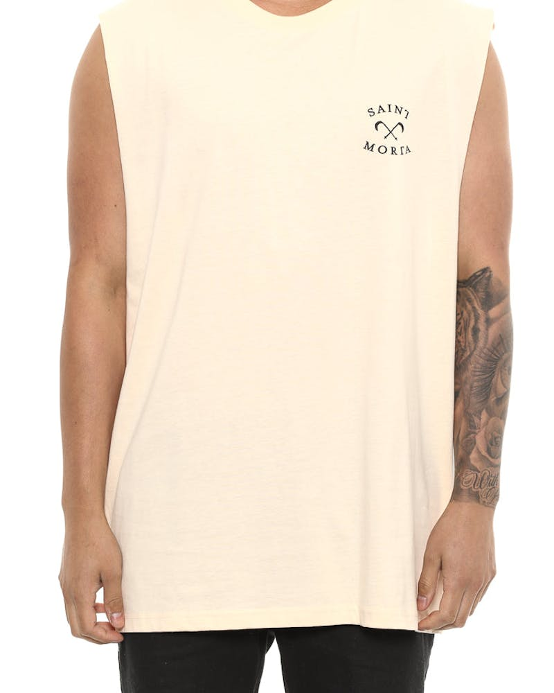 Saint Morta Entity Oversized Muscle Tee Beige