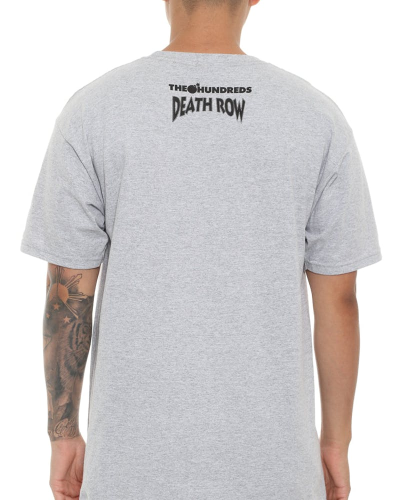 The Hundreds X Death Row Records Death Row Classic Tee Heather Grey