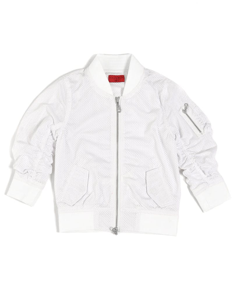 Haus of JR Dalton Mesh Bomber White