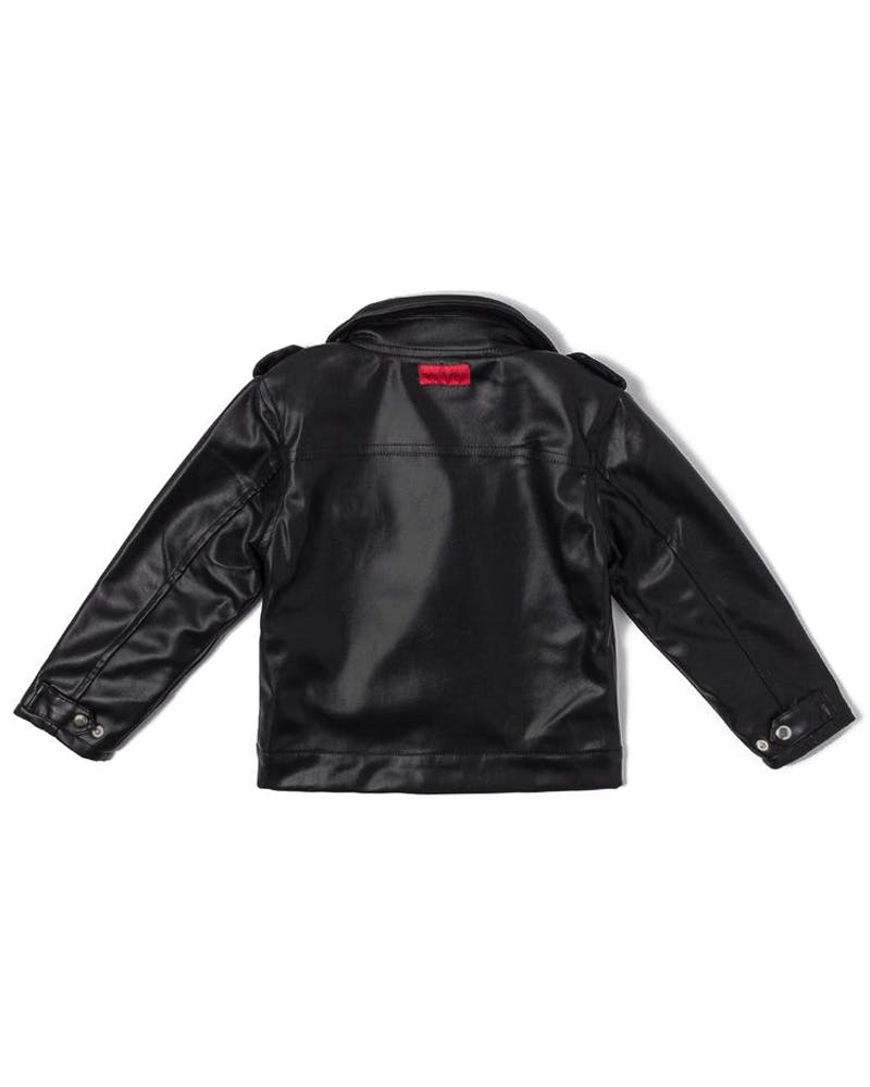 Haus of JR Lex Leather Biker Jacket Black