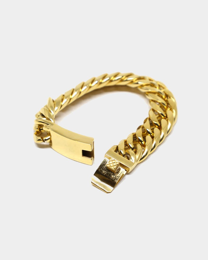 Saint Morta Cuban Link 18MM Bracelet Gold