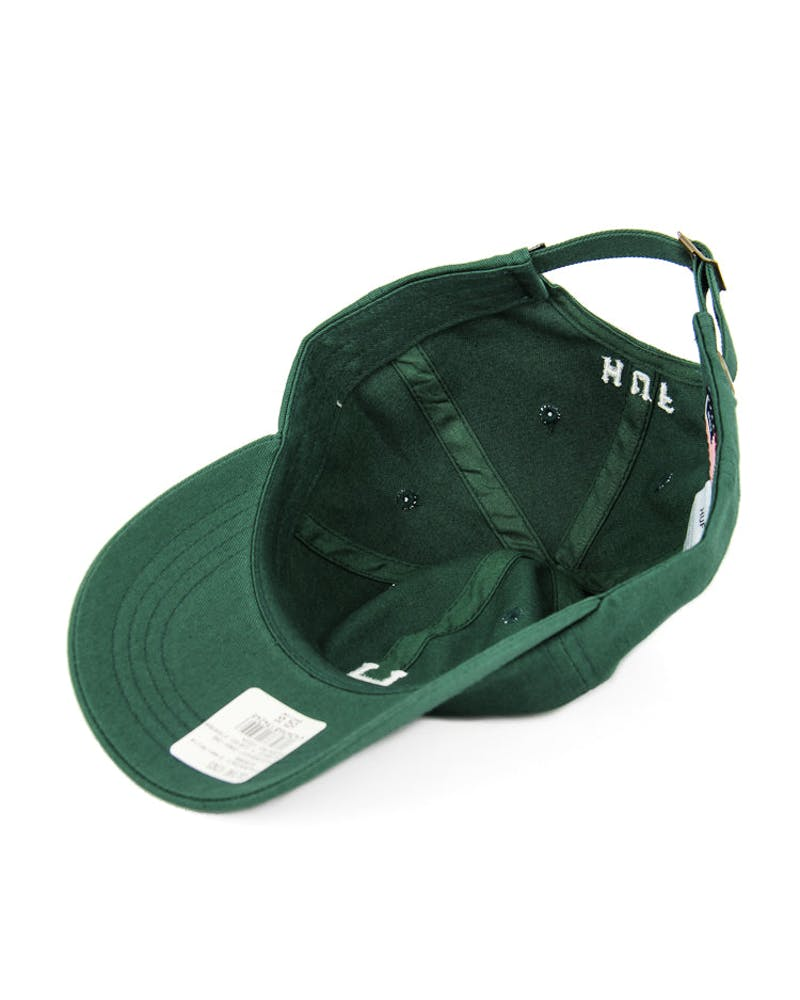 Huf Classic H Curved Strapback Dark Green/White