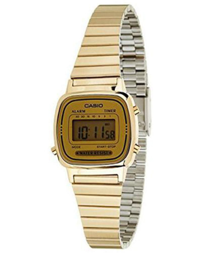Casio Ladies LA670WGA Digital Gold