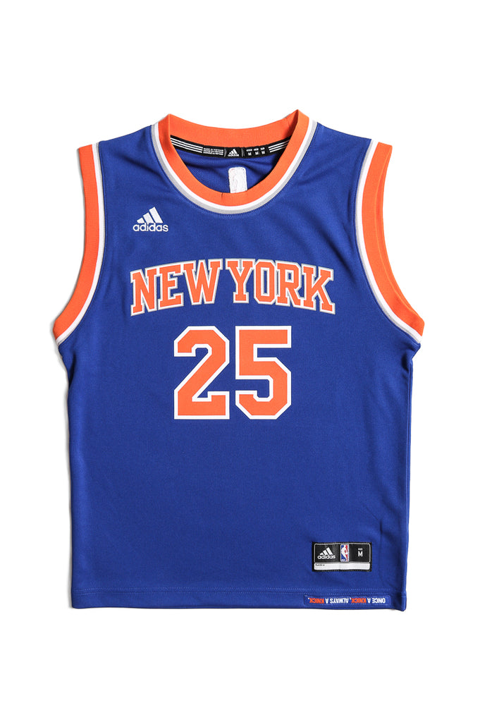 0fae6bd4ef4 coupon code for adidas performance new york knicks derrick rose youth jersey  blue 16d4b 350ae