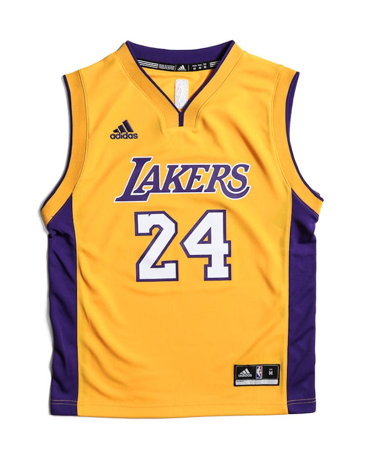 the latest 4c0be 9febe Adidas Performance LA Lakers Kobe Bryant Youth Jersey Yellow