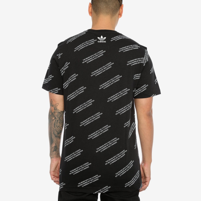 Adidas Originals ALLOVER PRINT WORD TEE Black