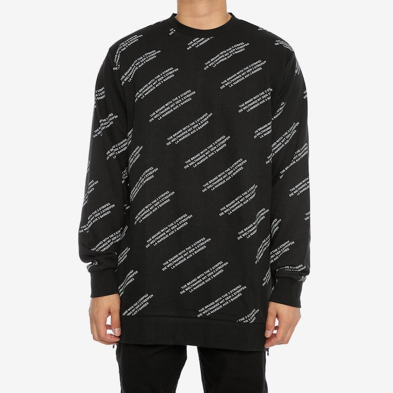 Adidas Originals ALLOVER PRINT WORD CREW Black