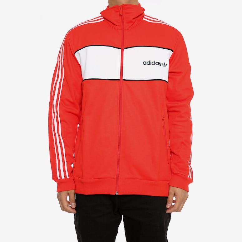 Adidas Originals BLOCK TRACK JACKET Red