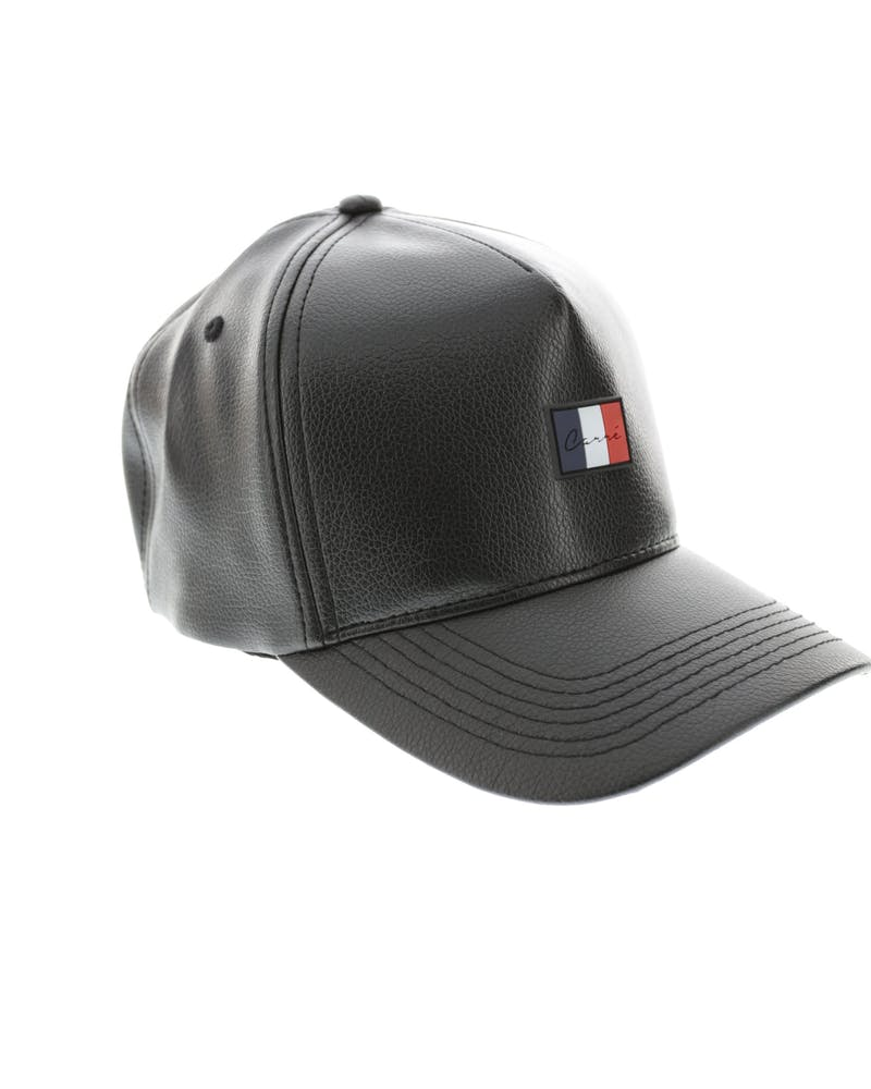 Carre Patriot Leather Strapback Black