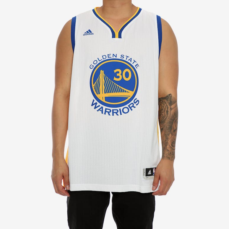 fae596aeae3 ADIDAS PERFORMANCE GS WARRIORS STEPHEN CURRY  30  SWINGMAN JERSEY WHITE