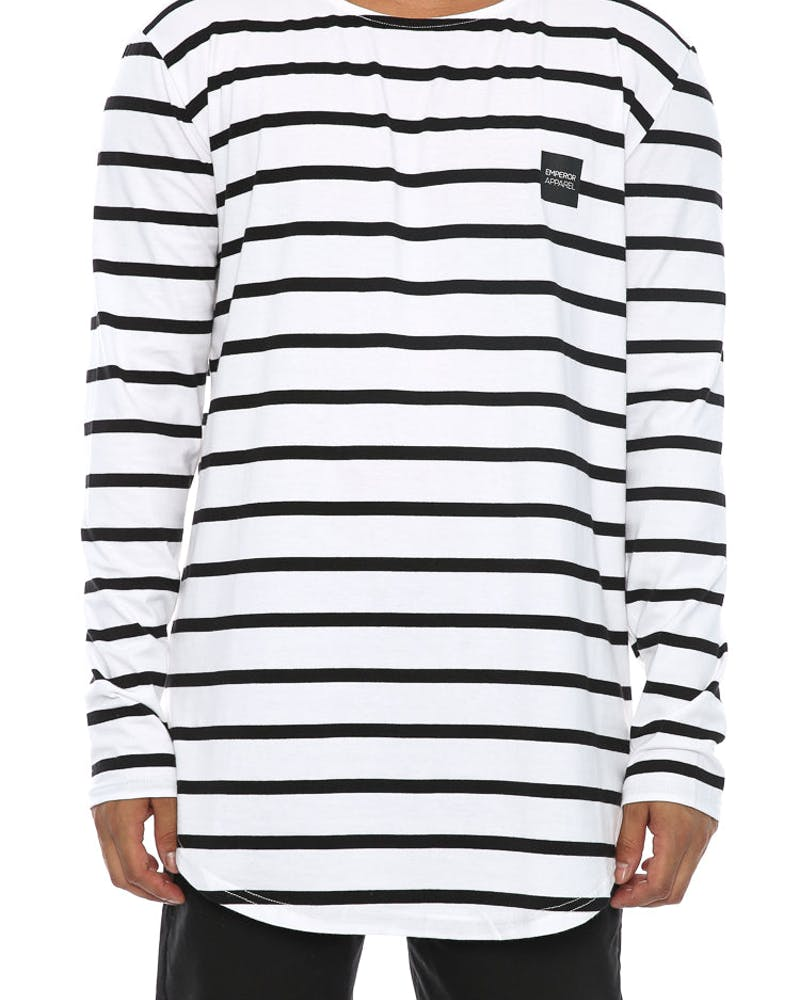 Emperor Apparel Marcelo Long Sleeve Tee White/Black