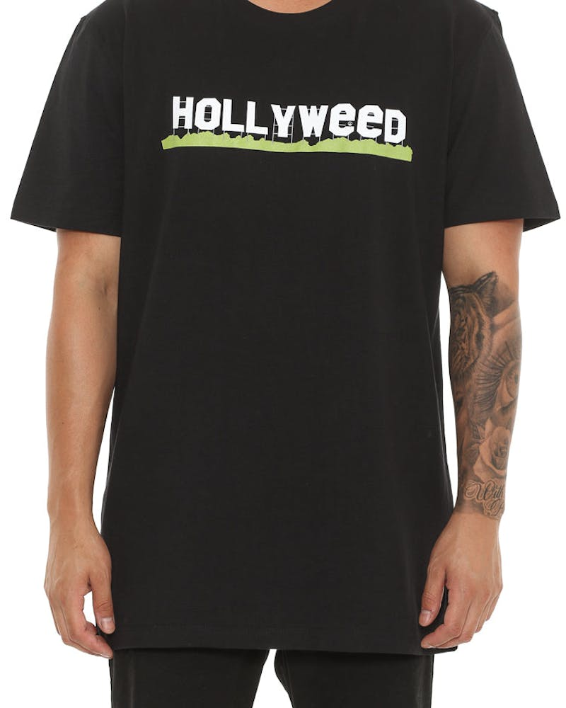 Goat Crew Hollyweed Tee Black