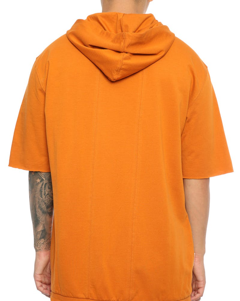 Saint Morta Keyline 3/4 Sleeve Zip Hoodie Mud Orange