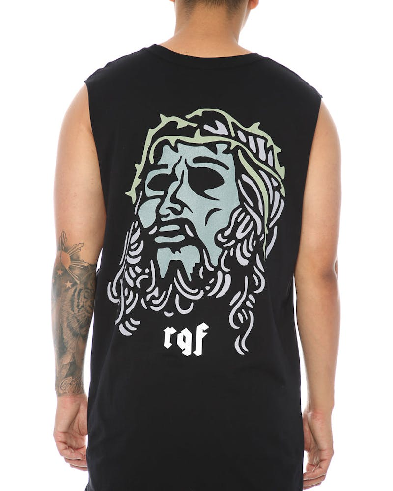 Rats Get Fat Christ Muscle Tee Black