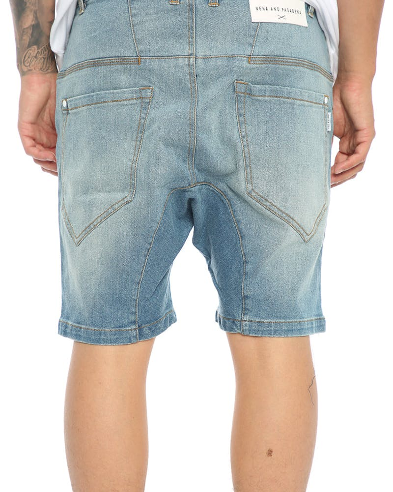 Nena And Pasadena Flight Denim Short Blue