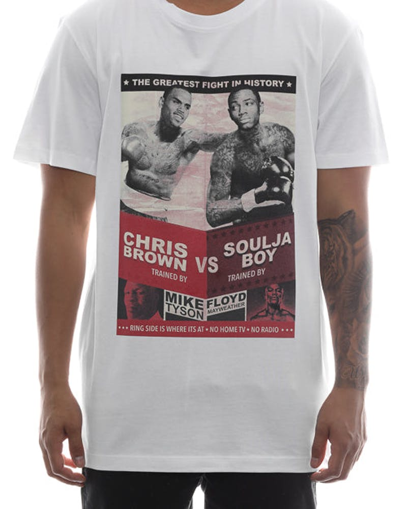Goat Crew Chris Brown V Soulja Boy Tee White