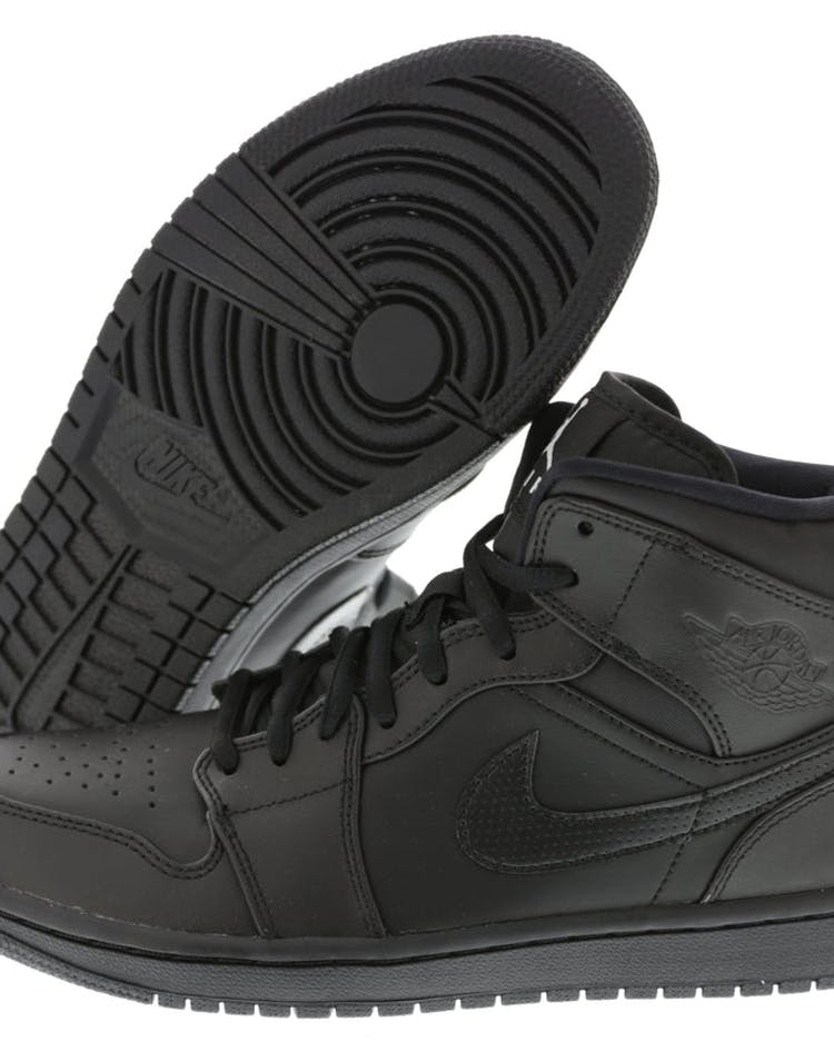 5ddbe968cac Jordan Air Jordan 1 Mid Black/Black | 554724 034 – Culture Kings NZ