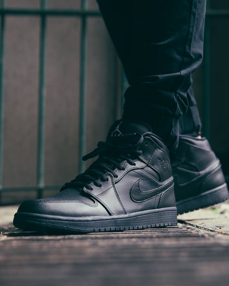 Jordan Air Jordan 1 Mid Black/Black