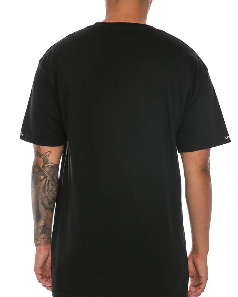 Crooks & Castles Backside Core Logo Tee Black