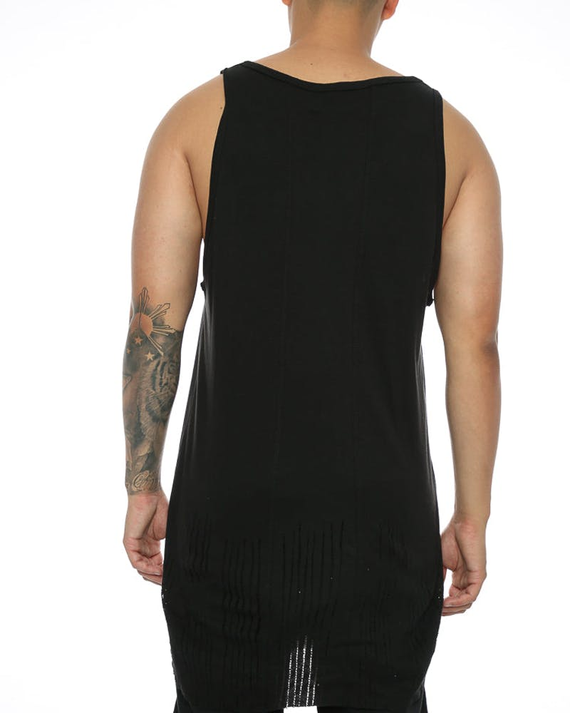 Other UK Clothing Limited Distressed Vest Jet Black