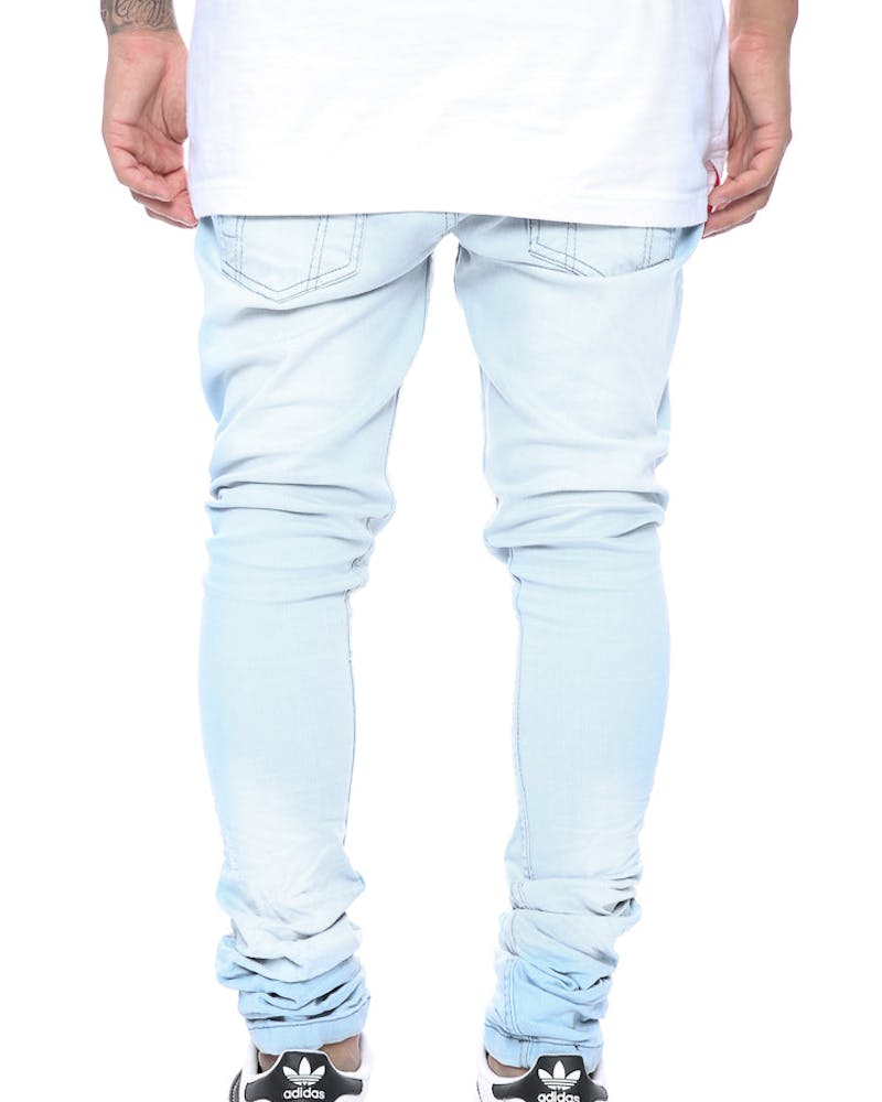 Other UK Clothing Limited Prem Essential Stacked Jeans Light Blue