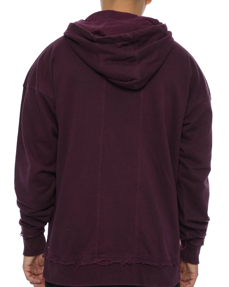 Other UK Clothing Limited Raw Hem Hoodie Amethyst