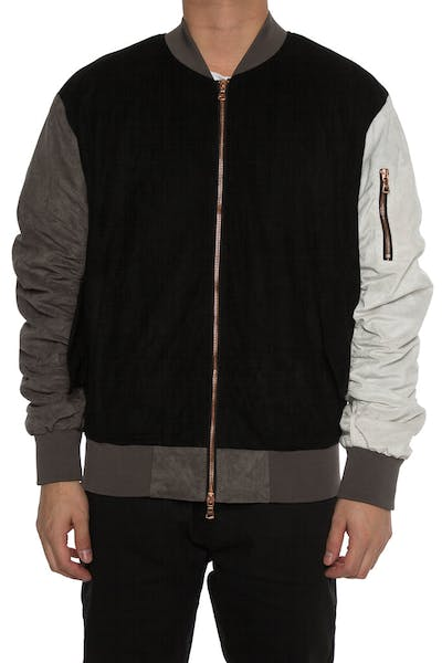 Lifted Anchors Bird Bomber Jacket Black/Grey/White