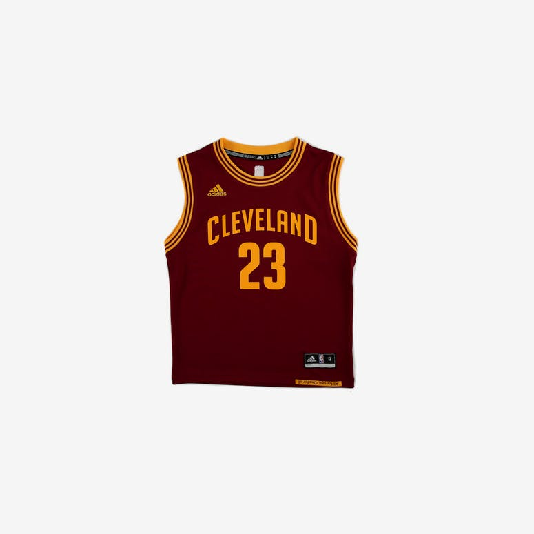 Adidas Performance NBA Cleveland Cavaliers LeBron James Youth Jersey  23   Burgundy 74588e6c0