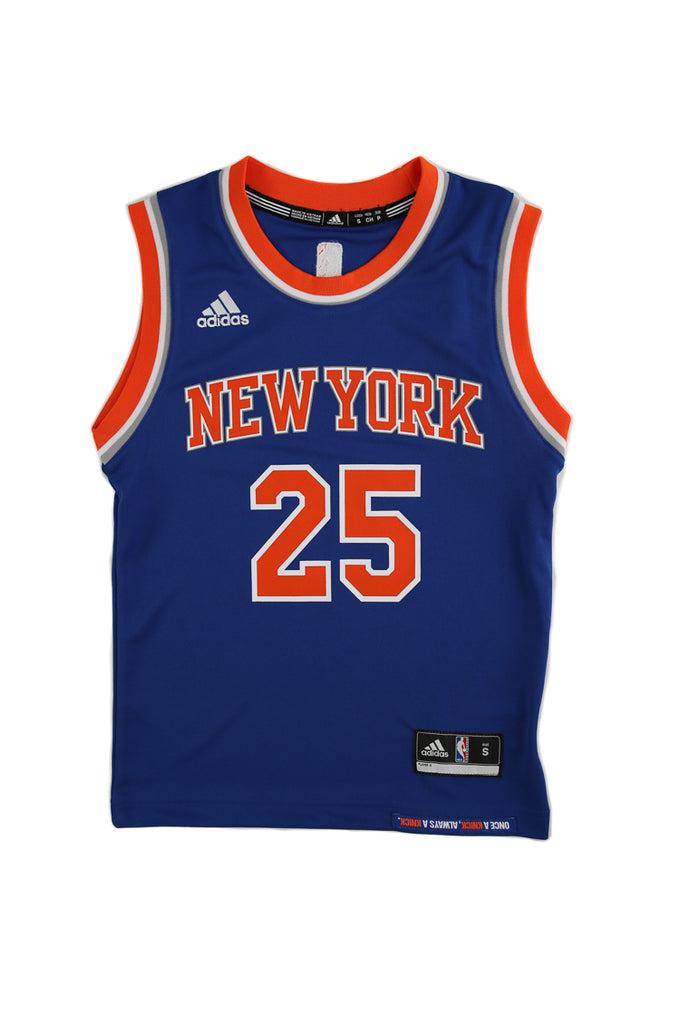 Adidas Performance NBA New York Knicks Derrick Rose Youth Jersey '25' Blue