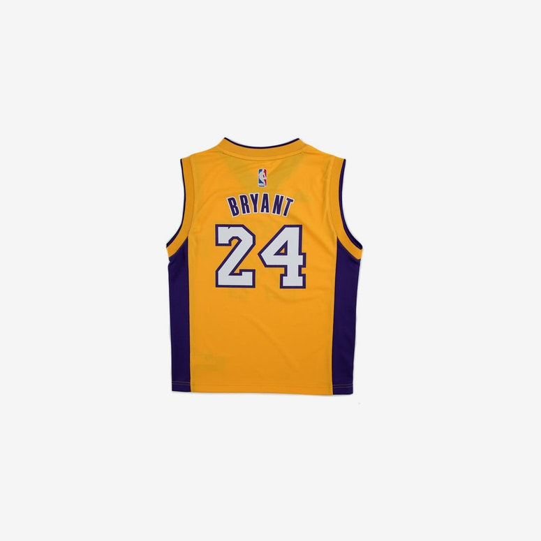 Adidas Performance NBA Los Angeles Lakers Kobe Bryant Youth Jersey '24' Yellow