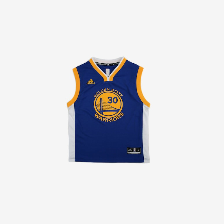 Adidas Performance NBA Golden State Warriors Stephen Curry Youth Jersey '30' Blue