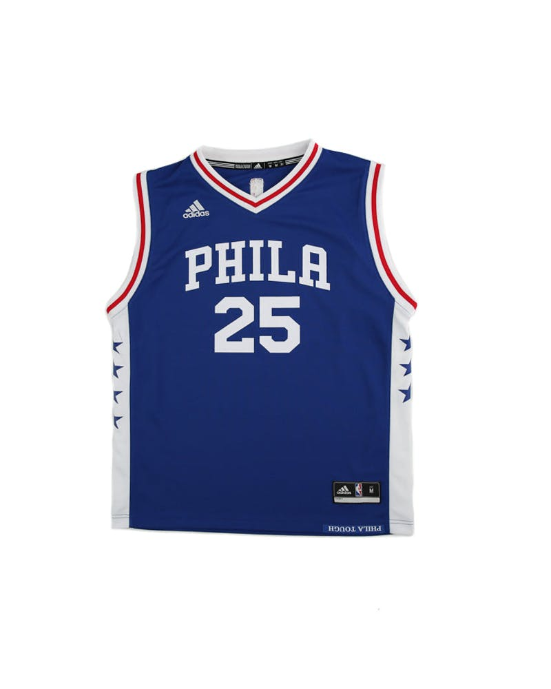 Adidas Performance NBA Philadelphia 76ers Ben Simmons Youth Jersey '25' Blue