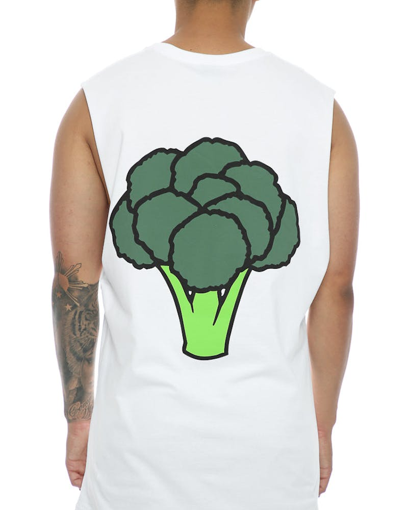 Goat Crew Broccoli Muscle Tee White