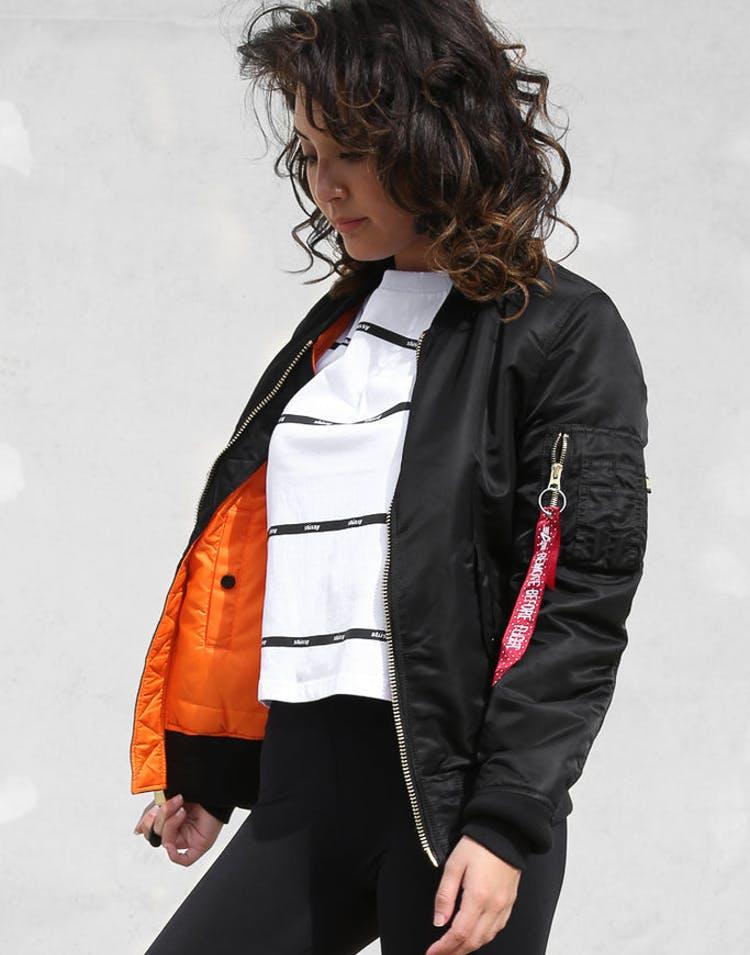 44b529dedcd Alpha Industries Women s MA-1 Slim Flight Jacket Black – Culture ...