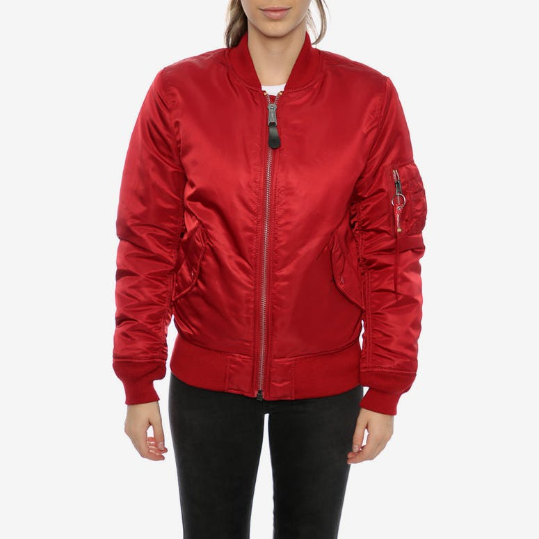 Alpha Industries Women's MA-1 Slim Flight Jacket Red