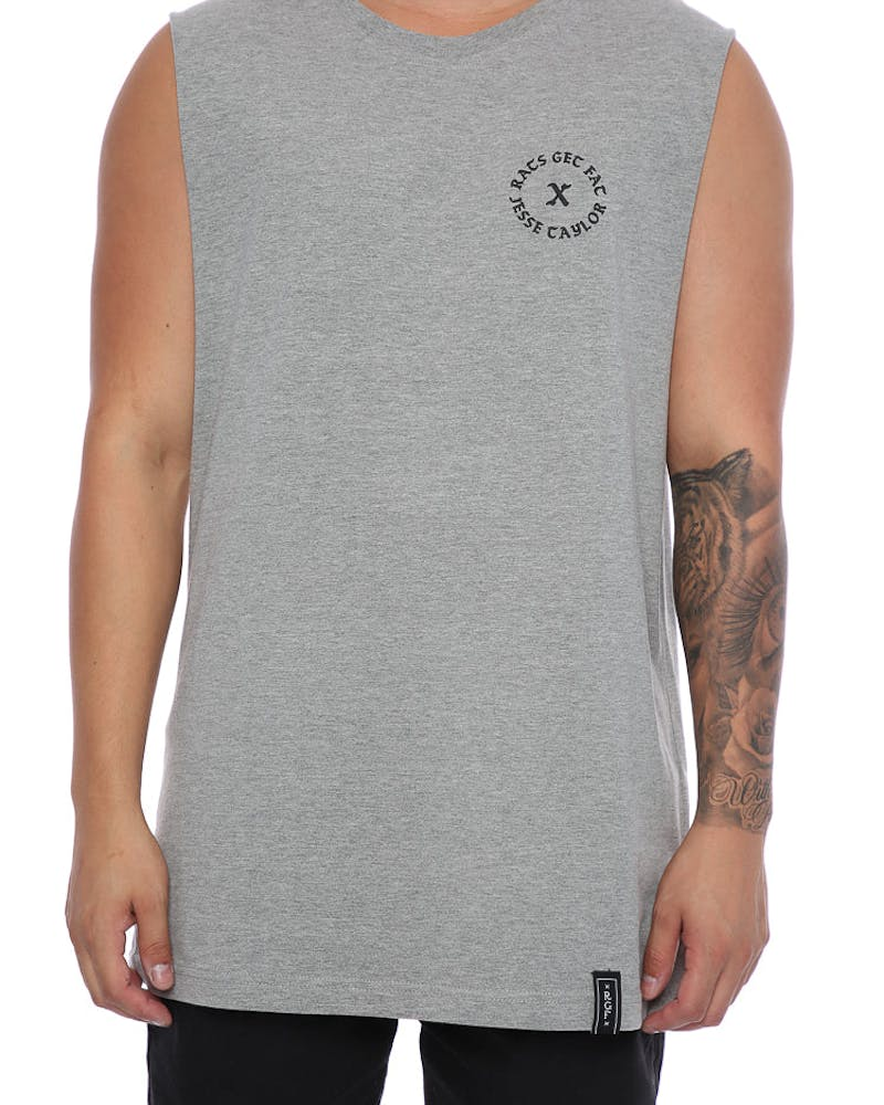 Rats Get Fat X Jesse Taylor Leader Muscle Tee Grey