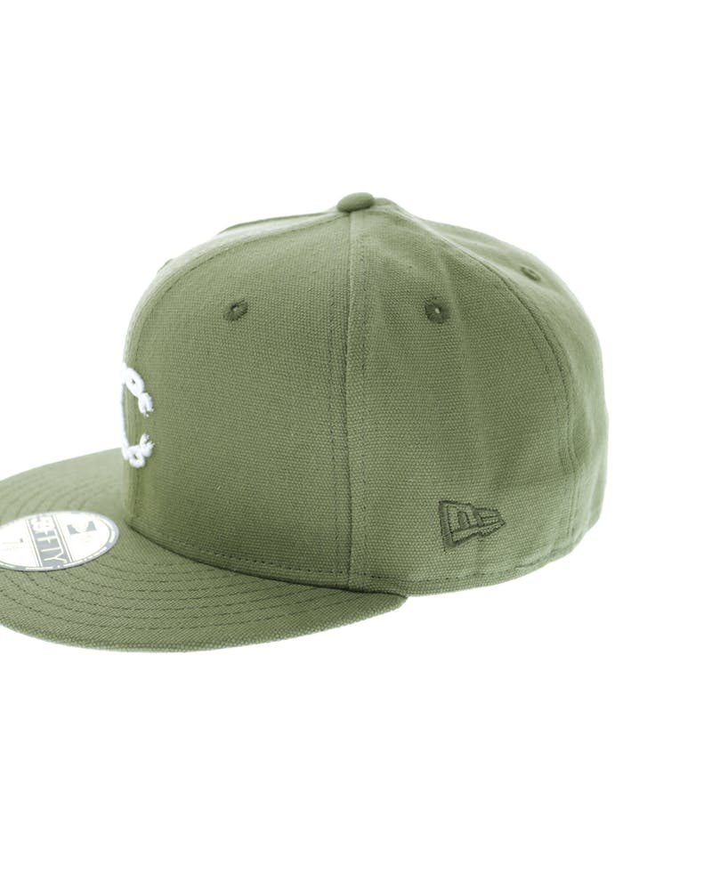 Crooks & Castles Micro Chain Fitted Green