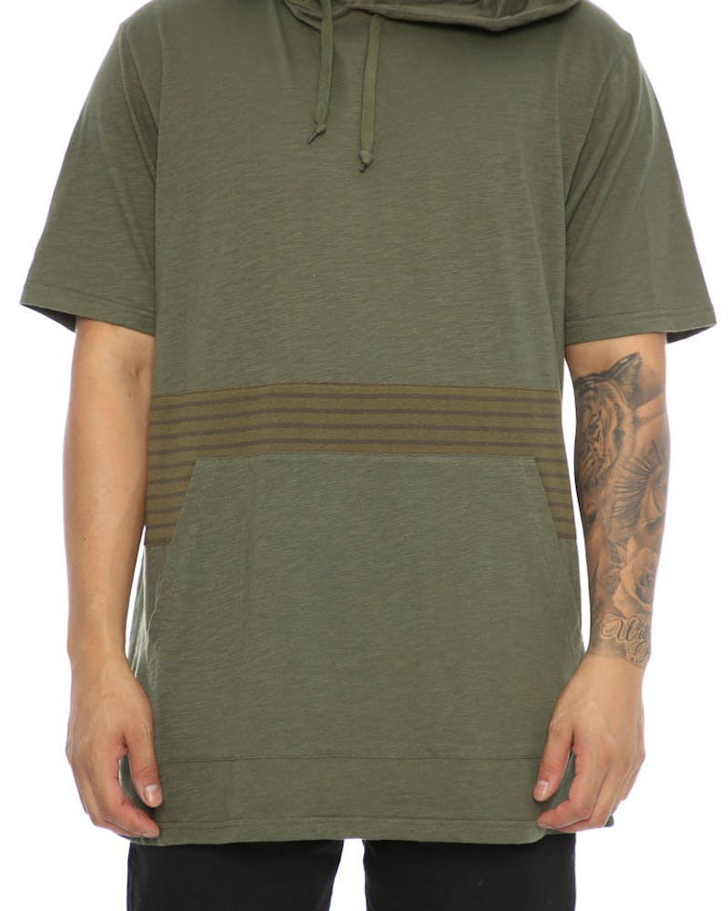 Crooks & Castles Masa Hooded Tee Green