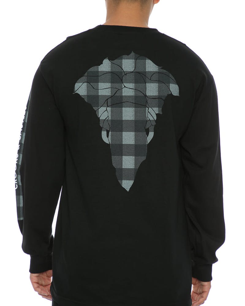 Crooks & Castles Spotted Bandusa Long Sleeve Black
