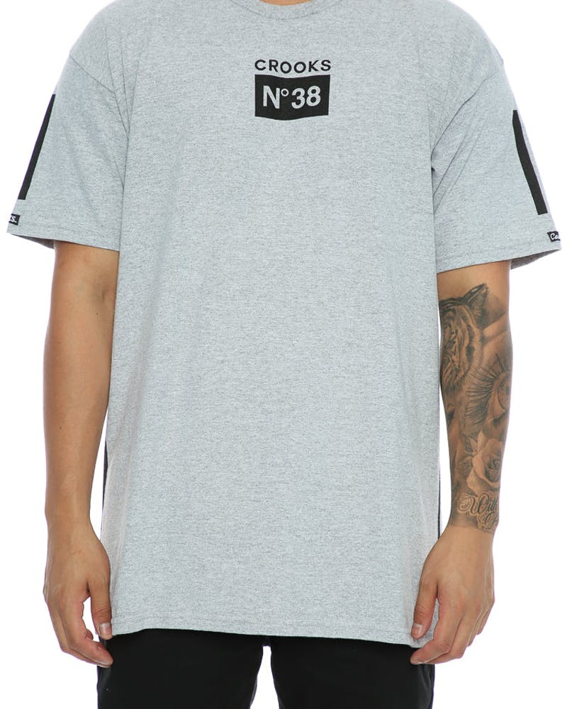 Crooks & Castles Prime No.38 Tee Heather Grey
