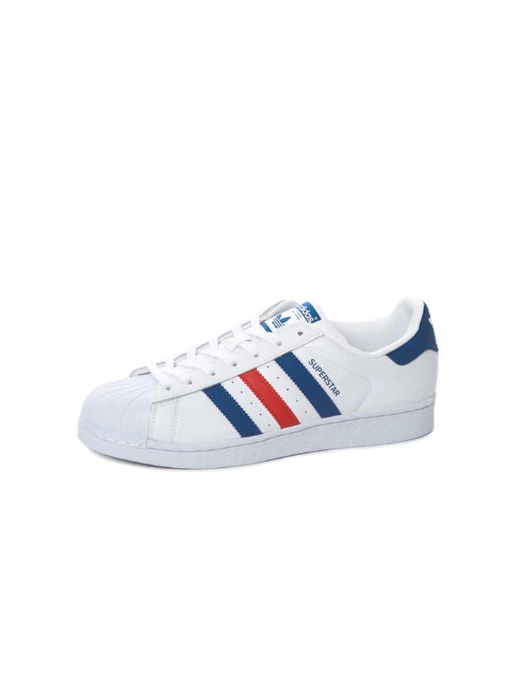 huge selection of 1eb54 07d78 Adidas Originals Superstar White Blue Red