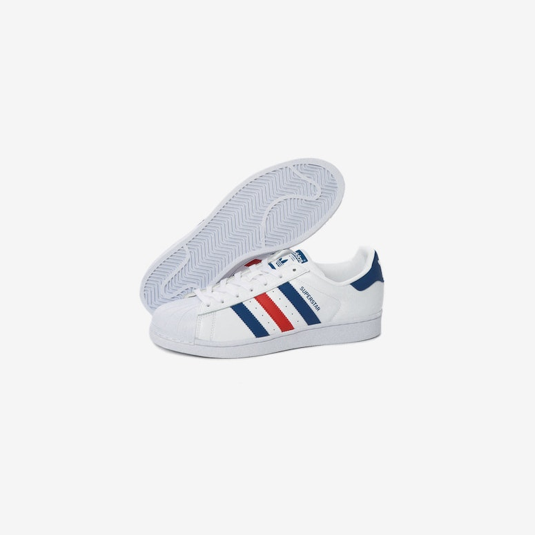 Adidas Originals Superstar White/Blue/Red
