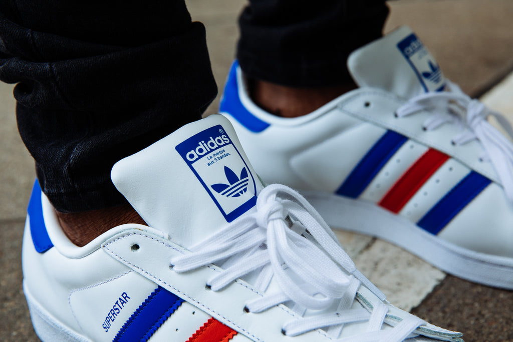 adidas superstars blue and red nz