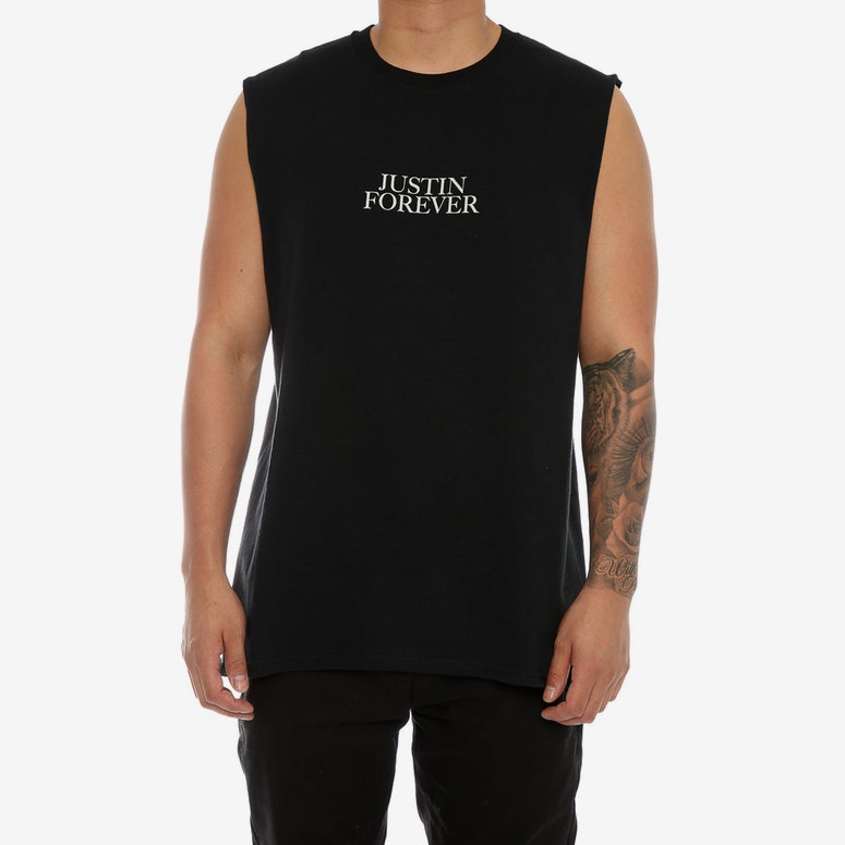 Justin Bieber Purpose Tour Forever Muscle Tee Black