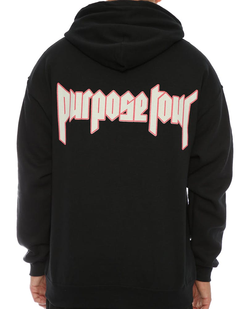 Justin Bieber Purpose Tour Security Pullover Hood Black