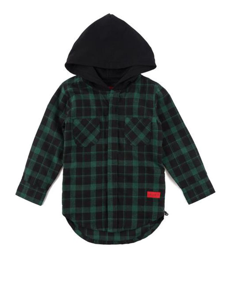 Haus Of JR George Flannel Hood Green
