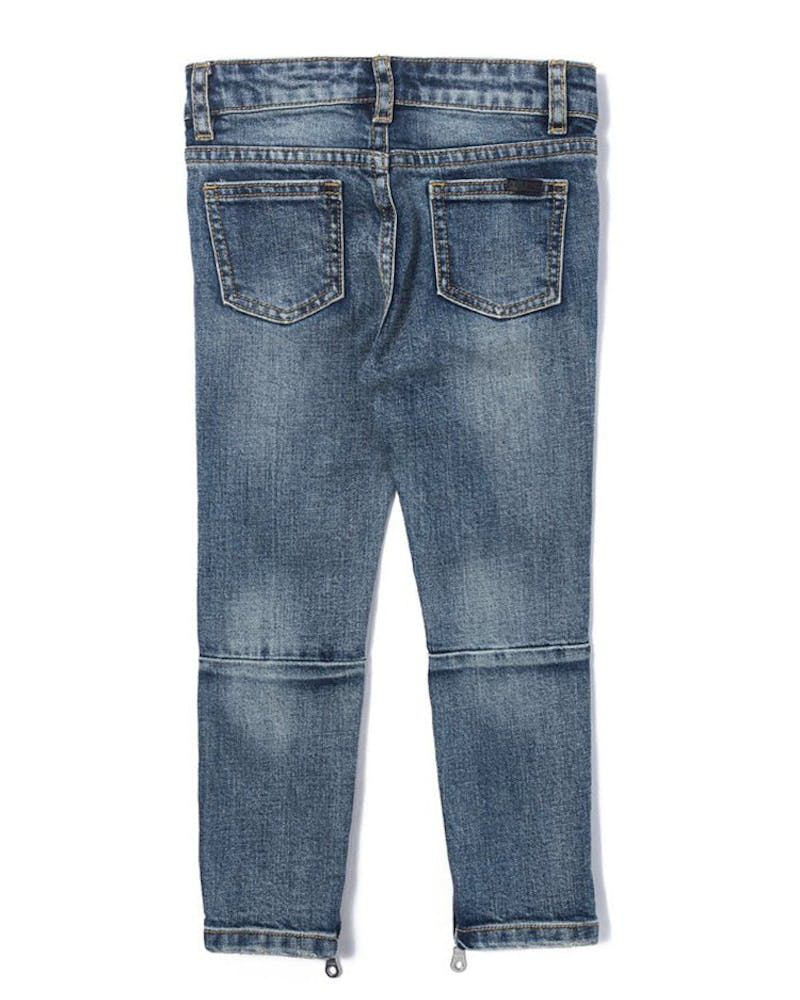 Haus Of JR Ryder Ripped Denim Blue