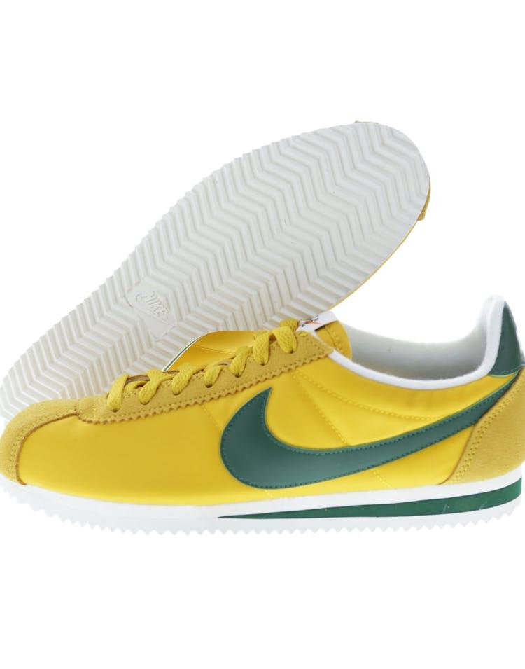 separation shoes 885f1 649e1 Nike Classic Cortez Nylon Premium Yellow/Green/White