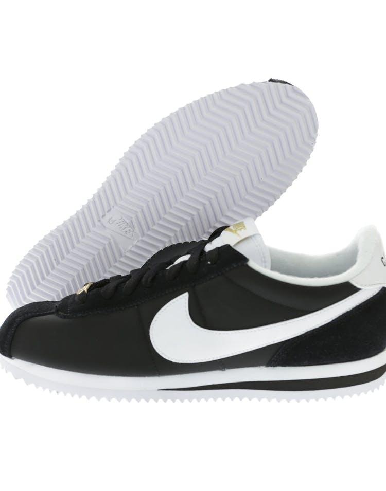 cheap for discount 60118 bd828 Nike Cortez Basic Nylon Premium Black White