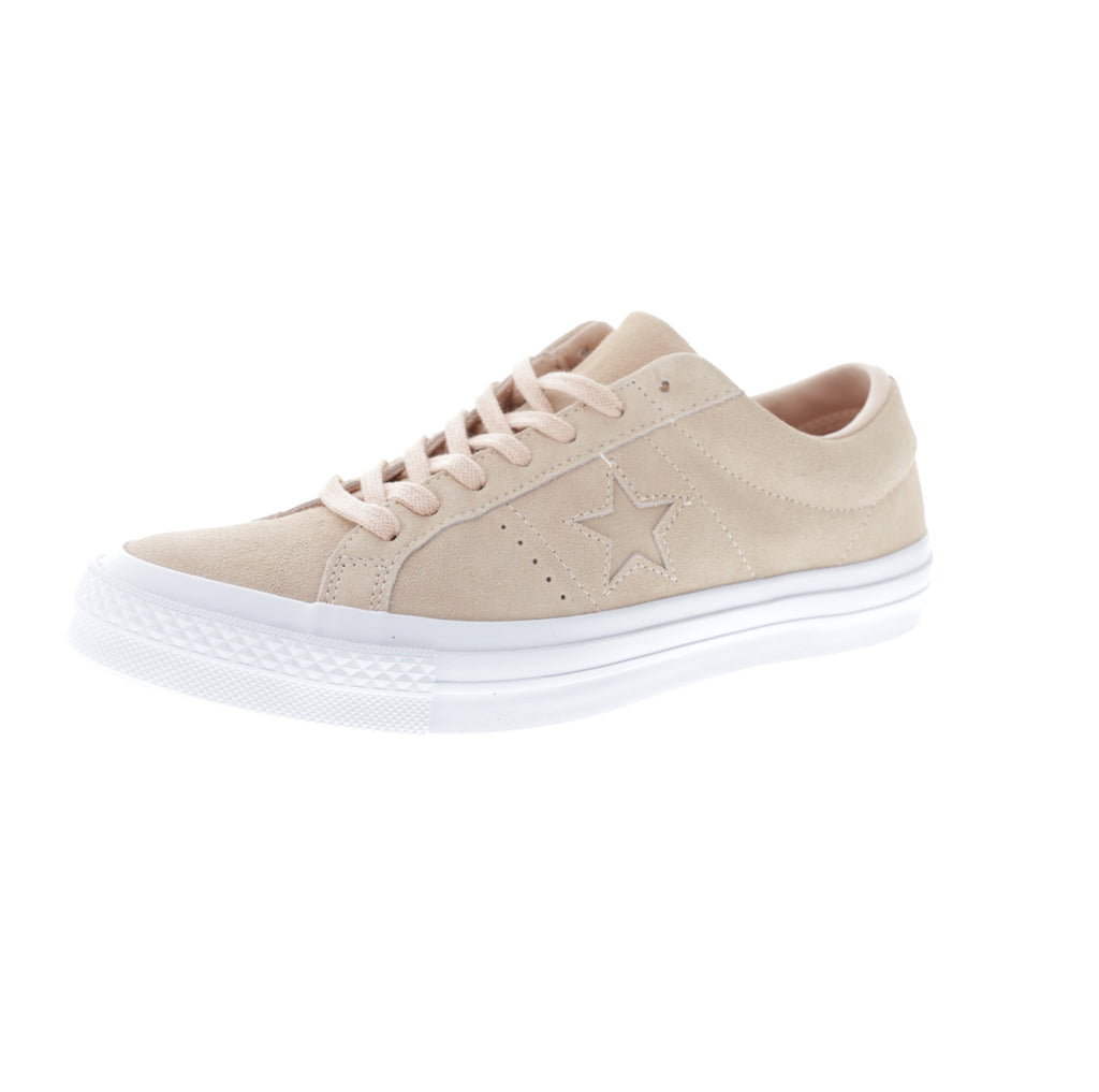 converse one star suede pink